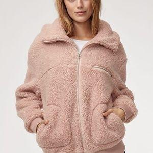 Aritzia The Teddy Jacket blush XXS so cozy!